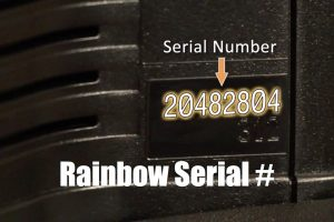 Finding the Rainbow and Power Nozzle Serial Number